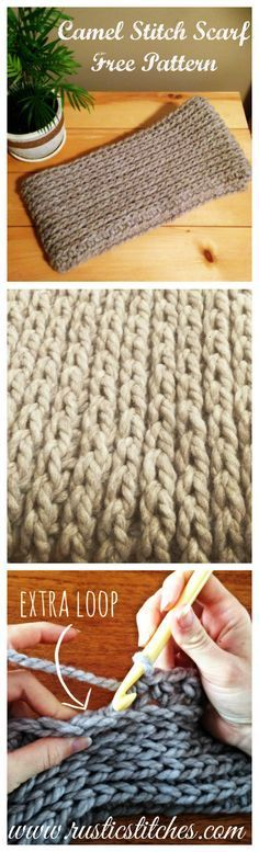Crochet Camel Stitch Infinity Scarf - Free Pattern