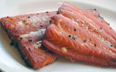 This smokey salmon is brined and marinated in Weston Vacuum Sealer bags for maximum flavor before being smoked over wine-soaked wood chips in a Weston Smoker as it's basted with the marinade...    http://blog.westonproducts.com/2012/07/smoked-salmon-with-weston-propane.html