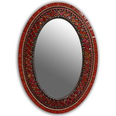 Mirror Red now featured on Fab. Mosaic Artwork, Mirror Mosaic, Pink Mirror, Oval Mirror, Moroccan Mirror, Mosaic Furniture, Mosaic Crafts, Hand Shapes, Ancient Art