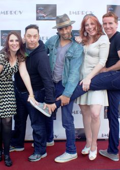 A fun red carpet pic from the screening of Episodes 1 & 2 at The Hollywood Improv! With Meli Alexander, Jeff Richards, Justin Wade, Loa Allebach and Danny McDermott.