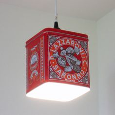 Biscotti tin pendant light