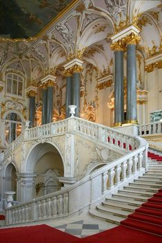 The State Hermitage Museum, Saint Petersburg, Russia - Visited in 2005 Baroque Architecture, Ancient Architecture, Beautiful Architecture, Beautiful Buildings, Beautiful Places, Renaissance Architecture, Arquitectura Wallpaper, Hermitage Museum, Grand Staircase
