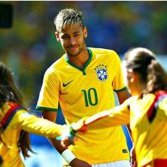 Neymar of Brazil looks on Neymar Jr, Fc Barcelona Neymar, International Soccer, Football Love, Football Memes, Good Soccer Players, Different Sports, Soccer News, Play Soccer
