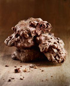 Dark Lindt Chocolate Drop Cookies w/ Sea Salt.......ummm where have you been all my life?!?!