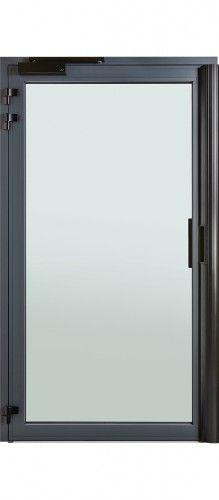 Mod le m rida porte d 39 entr e bois classique mi vitr e 1 2 for Porte ouvrant exterieur