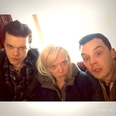 Noel, Emily and Cameron Carl Shameless, Shameless Memes, Shameless Mickey And Ian, Shameless Tv Show, Ian And Mickey, Carl Gallagher, Noel Fisher, Cameron Monaghan, Crazy Eyes