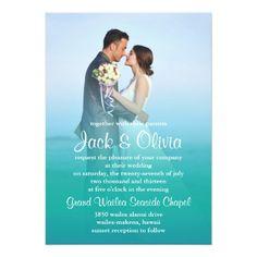 Hawaii Wedding Invitations Ocean Mist Wedding Invitation