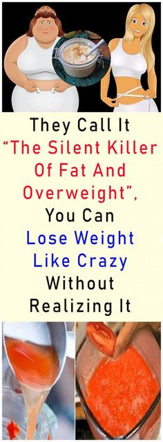 """They Call It """"The Silent Killer Of Fat And Overweight"""", You Can Lose Weight Like Crazy Without Realizing It #health #fitness #diy #beauty #beautyblogger"""