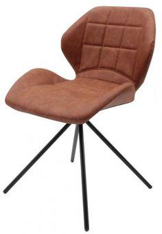 Flint vintage chair in PU Cognac