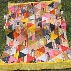 Himalayan Pink: Bookends Quilt Kit by Marcia Derse