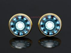 Iron Man Arc Reactor gold plated stud post earrings,the avengers superhero earrings,girlfriend gift Bridesmaid Gift