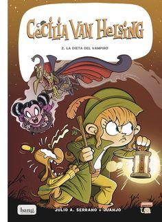 """Julio A. Serrano / Juanjo. """"Cecilia Van Helsing. Vol. 2: La dieta del vampir"""". Editorial Bang. Tapas, Comic Books, Comics, Cover, Editorial, Art, Products, Diets, Books"""