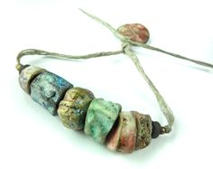 RESERVED FOR METTE Artisan Porcelain Beads by greybirdstudio, £25.00
