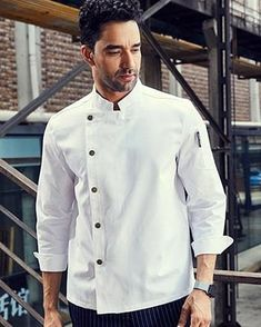 White Professional Chef, Chef Jackets, Unisex, Suits, Long Sleeve, Sleeves, Cotton, Clothes, Collection