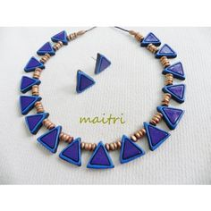 Terracotta Jewellery_Royal Blue Choker      maitri_crafts@yahoo.com  http://www.facebook.com/pages/Maitri/124757107652514