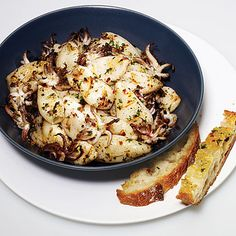 Grilling calamari allows the naturally rich flavor to emerge. A bright marinade, made with garlic and chile flakes, add bold flavor to...