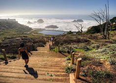 Lands End Trail, Golden Gate National Recreation Area, San Francisco. from the Cliff House to the Palace of the Legion of Honor. Don't miss the walk down to the Sutro Baths ruins (pictured) and stop in the Lands End Lookout Visitor Center and Cafe for a bowl of clam chowder. Photo: Mason Cummings/Parks Conservancy