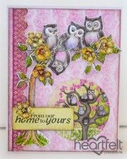 Yellow Blooming Tree With Owls