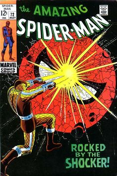 "Amazing Spider-Man vol.1 # 72, ""Rocked by..the Shocker!"" (May, 1969). Cover by John Romita Sr."