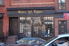Dinner with Gideon, called in so they could eat at his place......Steak house Peter Luger