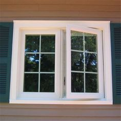 A casement window is a window that swings open inwardly or outwardly. A casement window is a window that is hinged and opens and closes like a book. Double Casement Windows, Upvc Windows, French Windows, Modern Windows, Sliding Windows, House Windows, Windows And Doors, Cottage Windows, Ideas