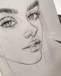 Magic artworks To see more sketches Which one is the most beautiful Artis Girl Drawing Sketches, Portrait Sketches, Art Drawings Sketches Simple, Sketch Painting, Pencil Art Drawings, Realistic Drawings, Drawing Step, Art Du Croquis, Drawing Techniques