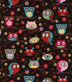 Novelty Quilt Fabric-Owls In Trees at Joann.com