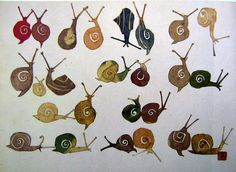 mother artist quilt maker hand stitching inner life time is material Watercolor Illustration, Watercolor Art, Snail Art, Art Shed, Nature Sketch, Art Textile, Watercolor Animals, Art Plastique, Illustrations