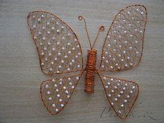 Drátování - motýl