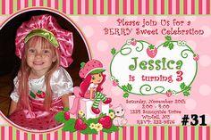 Strawberry Shortcake Invitation with Photo / Printable Birthday Party  Digital File