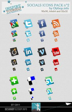 Imagery Investigation: Cool almost 3D social media icons. Even has Google+! No Dribble though.