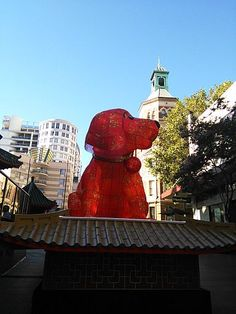 The Lunar New Year lanterns can be viewed on a walk around Sydney City at 3 locations - Chinatown, The CBD and Sydney Harbour