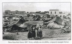 1897 ΧΑΛΙΧΟΥΤΕΣ ΣΤΟ ΠΑΝΩ ΚΟΥΝΚΑΠΙ ΣΤΑ ΧΑΝΙΑ, στο βάθος είναι ο ιταλικός στρατώνας. Old Maps, Crete, Old Pictures, Vintage Photos, The Past, Painting, Antique Photos, Antique Maps, Painting Art