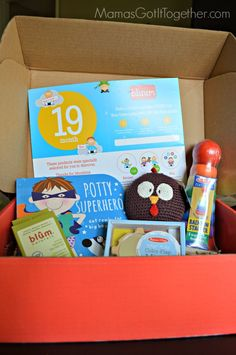 19 Month Bluum Box Review- Potty Superhero book + Melissa and Doug toys!! Love this box for my little man! #subscriptionbox #baby #toddler