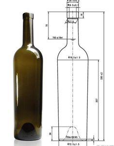 750ml Bordeaux Bottles,Wine Bottles,Antique green wine bottles