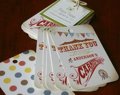 Popular items for vintage favor tag on Etsy Carnival Party Favors, Carnival Invitations, Kids Carnival, Party Favors For Kids Birthday, Birthday Thank You Cards, Carnival Birthday Parties, Carnival Tickets, Carnival Ideas, Circus Birthday