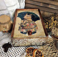 Купить Короб для кухни - комбинированный, короб, короб декупаж, короб для кухни, короб для специй