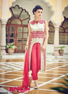 Splendid Cotton Silk Designer Suit