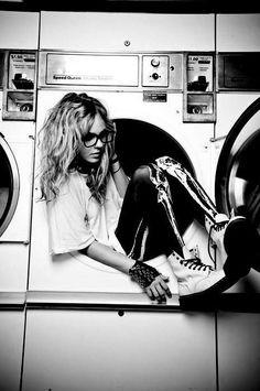 Saliendo de una lavadora