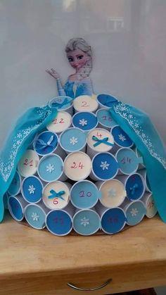 Magnifique calendrier de l'avent de la reine des neiges