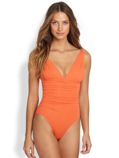 One-Piece Mediterranean Swimsuit on Wantering | Surf & Swim | womens one piece swimsuit | womens orange bathing suit | fashion | style | wantering http://www.wantering.com/womens-clothing-item/one-piece-mediterranean-swimsuit/aglfI/
