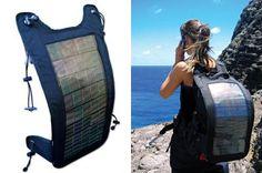 Outdoor solar backpack