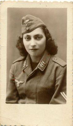A private portrait of a female Luftwaffe Obergefreiter