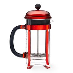 The original coffee press with a beautiful red finish. Brew up to 8 cups of flavorful coffee.