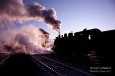 Nevada Northern Railway #40 at sunrise