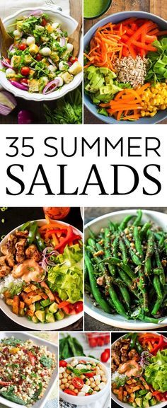 35 Refreshing Summer Salads. A great way to beat the heat! .jpg