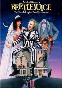 Beetlejuice starring Michael Keaton, Alec Baldwin, Geena Davis, and Winona Ryder; directed by Tim Burton Michael Keaton, 80s Movies, Great Movies, Movies To Watch, Scary Movies, Horror Movies, Comedy Movies, Kids Comedy, 1980s Films