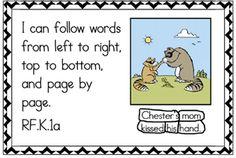 Common Core posters illustrating literacy standards in kid friendly language - kindergarten