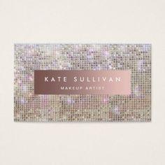 #makeupartist #businesscards - #glam faux sequin makeup artist business card