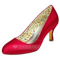 [US$ 53.99] Women's Satin Stiletto Heel Pumps (047102627)